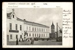 Vyskov - Obec. Skola, Radnice, Prichod Od Nadrazl - Tchéquie