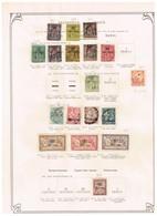 France Maroc Ancienne Collections Sur Feuille D'époque - Collections (sans Albums)