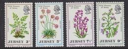 Jersey 1972 Wild Flowers 4v ** Mnh (44010 ) - Jersey