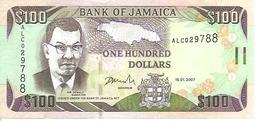 Jamaica P-84c 100 Dollars 2007 UNC - Jamaique