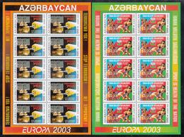 AZERBAIJAN  Michel  543/44 A  ** MNH  MINI-SHEET - Azerbaïdjan