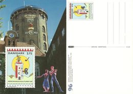Denmark  1996 København Kulturby 96  Culture Town, Rundetårn Tower,  With Imprinted Stamp Unused Card - Danimarca