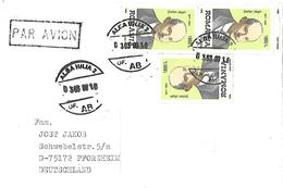 ROMANIA 1999   AIRMAIL COVER TO  GERMANY WITH LENIN  STAMPS. - Airmail