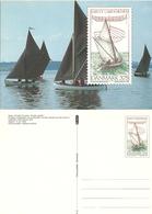 Denmark  1996 Sailing Ships, Sjægt Limfjorden, Danish Wooden Boat,  With Imprinted Stamp Unused Card - Danimarca