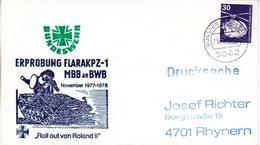 "(FC-3) BRD Cachetumschlag Bundeswehr ""ERPROBUNG FLARAKPZ-1  MBB An BWB"" EF Mi 849 TSt 2.5.1977 MÜNSTER - BRD"