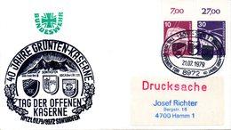"""(FC-3) BRD Cachetumschlag Bundeswehr """"40 JAHRE GRÜNTEN-KASERNE SONTHOFEN"""" MiF Mi 847,849 SSt 21.7.1979 SONTHOFEN - BRD"""