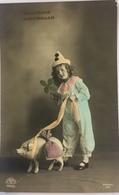 (530) Gelukkig Nieuwjaar - Clown Met Varkentje - New Year