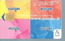 TELECARTE 50 UNITES -  WWW.ASSEDIC.FR  - 02 / 2003 - GEM - Frankrijk