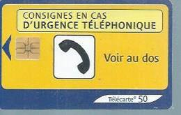 TELECARTE 50 UNITES -  URGENCE TELEPHONIQUE  - 04 / 2003 - SO3 - Frankrijk