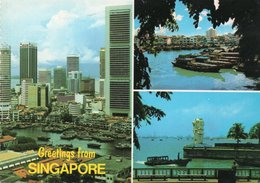 GREETINGS FROM SINGAPORE- VIAGGIATA 1980    FG - Singapore