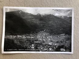 TIONE VEDUTA GENERALE CON LA FRAZIONE DI BOLBENO  1949 - Trento