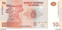 CONGO DEMOCRATIC REPUBLIC 10 FRANCS 2003 P-93 UNC [CD312a] - Congo