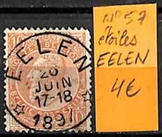 D - [833424]TB//O/Used-Belgique  - N° 57, EELEN, Familles Royales, Rois - Poststempel