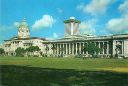 SUPREME COURT-GOVERNMENT OFFICES FACING THE PADANG- SINGAPORE- VIAGGIATA 1977    FG - Singapore
