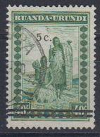 """Ruanda-Urundi 1941 """"Meulemans"""" 5c On 40c  Used (44013) Ca Usumbura - 1924-44: Afgestempeld"""