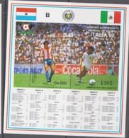 PARAGUAY - 1987 - ITALIA WORLD CUP  SOUENIR SHEET   MINT NEVER HINGED - Paraguay