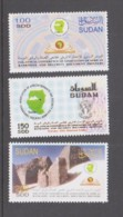 SUDAN -   2003 - BANKNOTE PRINTERS CONFERENCE SET OF 3  MINT NEVER HINGED ,SG CAT £47 - Sudan (1954-...)