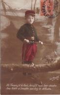 """MILITARIA.. GUERRE 1914-18 . CARTE PATRIOTIQUE. ENFANT """" LA RELÈVE """". TEXTE  DU 14 MAI 1916 + TEXTE - Patriotiques"""