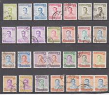 THAILAND - 1972- KING BHUMIBOL SET  100 BAHT INC STRIP OF 3 FINE USED  ,SG CAT £74 - Thailand