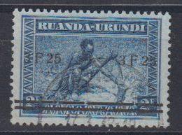 """Ruanda-Urundi 1941 """"Meulemans"""" 3.25Fr On 2Fr Used (44013B) Ca Usumbura - 1924-44: Afgestempeld"""