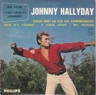 """JOHNNY   HALLYDAY  --  Pour Moi La Vie Va Commencer  Du Film  """" D'ou Viens Tu Johnny  """"  --  4  Scans  -- - Rock"""