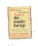 """Façade De Boîte D'allumettes Publicitaire - """"Koop In DE OUDE HESP """" TURNHOUT (rmt) - Boites D'allumettes - Etiquettes"""