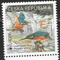 CZECH REPUBLIC, 2019, MNH, EUROPA, BIRDS, KINGFISHERS, WATERFALLS, 1v - 2019