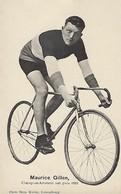 MAURICE GILLEN  -  CHAMPION AMATEUR SUR PISTE 1923   PHOTO BERN KUTTER,LUXEMBOURG - Cyclisme