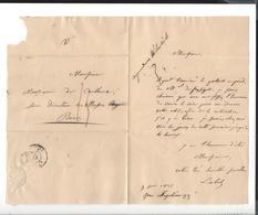 FRANCOIS VINCENT LATIL 1796 - 1890 à Alphonse De Cailleux -  Tableau Portrait Du Maréchal De Puységur 1835 - Autogramme & Autographen