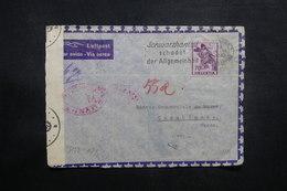 SUISSE - Enveloppe De Saint Gallen Pour Casablanca En 1943 Via Lisbonne Avec Contrôles Postaux - L 37426 - Poststempel