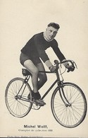 MICHEL WOLFF  -  CHAMPION DE CYCLO-CROSS 1920   PHOTO BERN KUTTER,LUXEMBOURG - Cyclisme