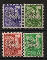 France - 1960 - Préo N°Yv. 119 à 122 - Série Complète Coq - Neuf Luxe ** / MNH / Postfrisch - 1964-1988