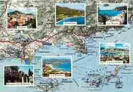 83 - Var - Cote Varoise - Multivues - Carte Géographique Michelin - Carte Neuve - Voir Scans Recto-Verso - France