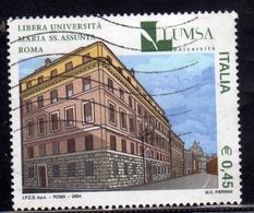 ITALIA REPUBBLICA ITALY REPUBLIC 2004 SCUOLE LUMSA LIBERA UNIVERSITA' MARIA SS. ASSUNTA ROMA USATO USED OBLITERE' - 6. 1946-.. Republic
