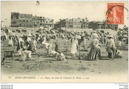 80 MERS LES BAINS. Un Jour De Concours De Forts Sur La Plage 1917 - Mers Les Bains