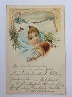 """""""Neujahr, Kinder, Muff, Winterlandschaft, Jugendstil""""  1903  ♥   - Neujahr"""