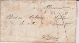 USED LETTER 19/04/1846 CAMPAGNA DEMONTE EN PIEMONT - Italie