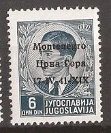 1941  9   MONTENEGRO 17-41,,, ,,,-ITALIA OCCUPAZIONE  MONTENEGRO CRNA GORA  MNH - 9. Besetzung 2. WK (Italien)