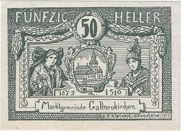 Austria (NOTGELD) 50 Heller Gallneukirchen 24-4-1920 Kon 218 A.3 UNC Ref 3590-1 - Austria