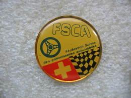 Pin's De La FSCA, Fédération Suisse Des Commissaires Automobiles - Rallye