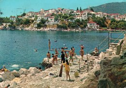 GRECIA-SKIATHOS-THE BEACH AT BOURTZI-- VIAGGIATA  1979   FG - Grecia