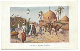 CARTE POSTALE EGYPTE / LE CAIRE  / 1917 MARKET IN MARG - Kairo