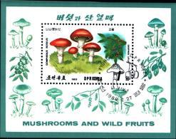 6379b) Corea - 1989 BF Funghi & Frutta -USATO - Corea Del Sud