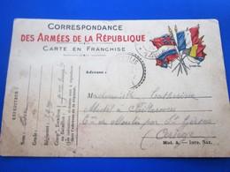 WW1- 39e Régiment Infanterie(39e RI)SP146 Marcophilie Lettre Carte Franchise MilitaireThème Militaria Pr Saint-Girons 09 - Poststempel (Briefe)