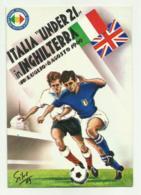 ITALIA UNDER 21 IN INGHILTERRA 10 LUGLIO - 6 AGOSTO 1969 ILLUSTRATA SIVE VIAGGIATA FG - Soccer