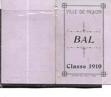 87-NEXON-Carnet De BAL Des CONSCRITS De La Classe 1910 Au Café De La Promenade - Autres Communes