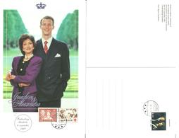 Denmark 1999 Card Royal Wedding Joachim And Alexandra - Fredensborg Church 6.11.99 - Danimarca