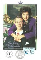 Denmark  / France 1999 Card Royal Wedding Joachim And Alexandra - Cancelled Cahors France - Danimarca
