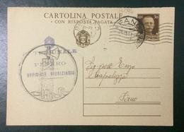 CARTOLINA POSTALE INTERO DA C. 30 Viaggiata - Bollo Di Fascio Littorio - Interi Postali