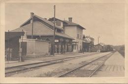 BAD SCHALLERBACH OÖ Bahnhof Fotokarte Gel.1925, Gute Erhaltung - Bad Schallerbach